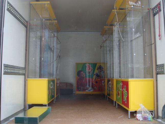перевозка стеклянных витрин с частичной разборкой